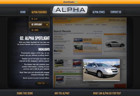 AutoTrader.com Interactive Collateral