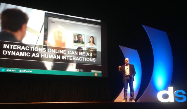 On stage at the Digital Summit.